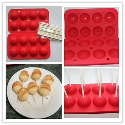 1pcs Small Lollipop Food Grade Silicone Cake/Ice/Chocolate/Candy DIY Mold