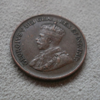 1932 Canada Canadian small cents one cent coin penny