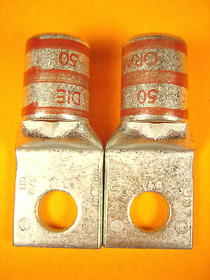 Thomas & Betts - 150N - Orange Die 50 Wire Terminal Lug Ring Connector Lot of 2