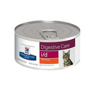 HILL S prescription diet  i/d feline  pezzettini con pollo 24 lattine da 156 g.