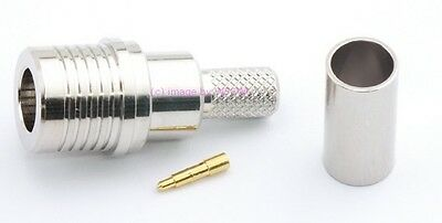 QMA Male Crimp Connector fits RG-58 LMR195 Coax Cables - by W5SWL ®