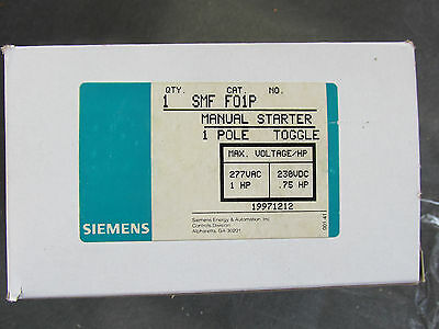 Siemens SMF F01P Manual Starter 1P NEW!!! in Box Free Shipping