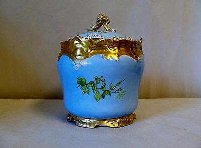 Limoges France Hand Painted Pottery With Lid
