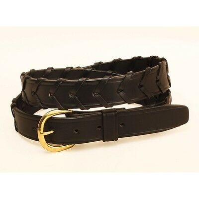 Tory Wide Laced Rein Belt - Black or Havana - Different Sizes - SALE!