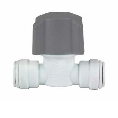 Speedfit 15mm and 22mm John Guest Stopcock Stop Valve 15STV 22STV Hot Cold Water