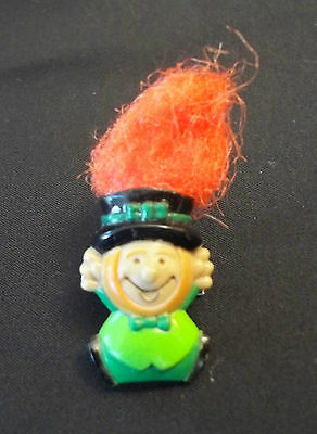 St Patrick's Day~*Leprechaun pin*~Lapel Brooch troll like hair!