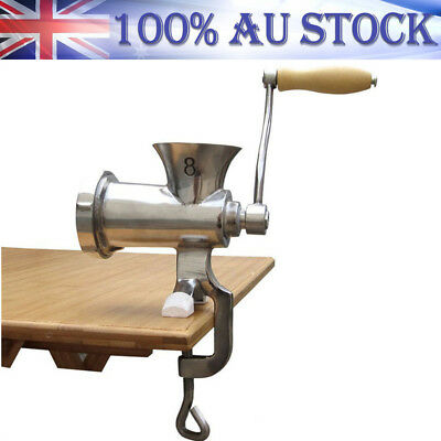 304 Stainless Steel Sausages Grinder Ground Meat Maker Manual Mincer Kitchen New