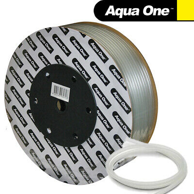 Aqua One Aquarium Soft Silicon Airline Tube 4mm Air Line for Fish Tank Pump 100m