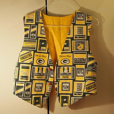 Vintage Green Bay Packers Vest Size Small