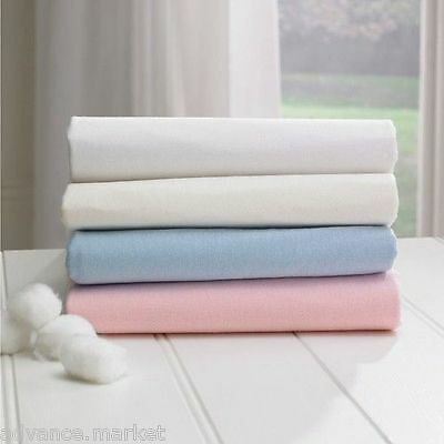 Egyptian Cotton 200 Thread Count Cot Bed Fitted Sheet - 70 X 140 Cm