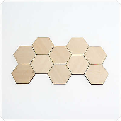1cm 2cm 3cm Wide WOODEN WOOD HEXAGON DECOR IDEAL CRAFT CARD MAKING SCRAPBOOKING