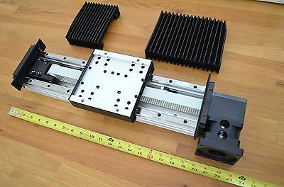 "*NEW* 20"" THK GL15B-160L Linear Belt Drive Actuator w/ Bellows Covers - CNC DIY"