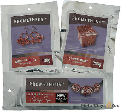 Prometheus Low Fire Copper, Bronze, White Bronze, Sunny Bronze Metal Clays (PMC)