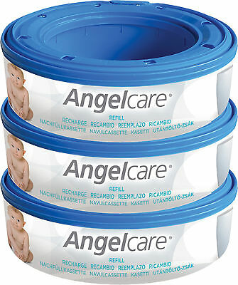 Angelcare Nappy Diaper Disposal System 3 Refill Cassettes Baby Changing BNIP