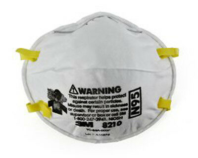 3M - 8210 Dust Respirator, Disposable, N95, Pack of 20