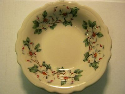 Two 4 1/2 in. Sterling Vitrified China Berry Bowls Dogwood Made in USA