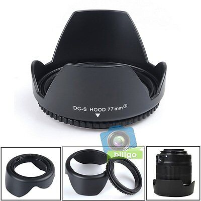 77mm Reversible Petal Flower Lens Hood For Canon Nikon Sony Olympus Camera 【US】