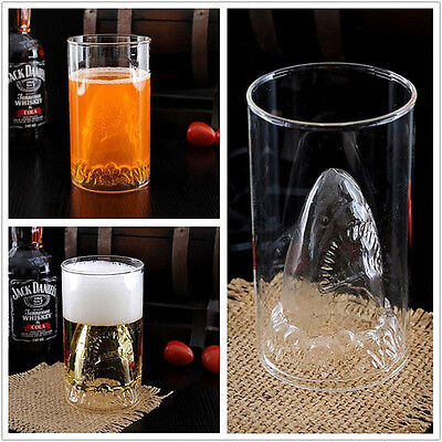 350ML Shark Durable Double Wall Whisky Wine Shot Glass in box Beer Cup Creative