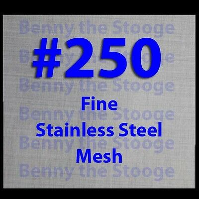 """12""""x12"""" #250 Mesh / 61 Micron Ultra Fine Filtration Mesh / Cloth / Extraction"""