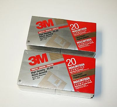 """4 Boxes New 3M High Density Diskettes 3.5"""" DS HD Formatted 1.44 MB 40 Disks"""