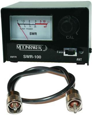 CB Radio SWR Meter + Free 50cm Patch Lead High Quality 10m 2m PMR Amateur HAM 10