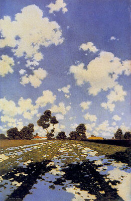 Maxfield Parrish Water on a Field 22x30 Hand Numbered Edition Art Deco Print