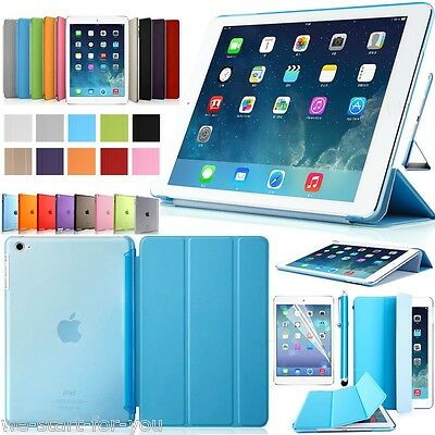 Ultra-Slim! Apple iPad Air 2 Schutz Hülle+Folie Tasche Smart Cover Case Etui 10