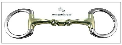 Eggbutt Snaffle Horse Bit with Aurigan Gold KK Style Link BS231