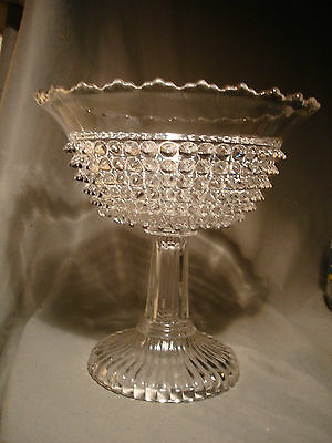 EAPG Columbia Glass Co. Findlay Ohio  Hobnail Compote