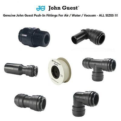Water Fittings Metric John Guest Tube & Hose & Pipe 6 8 10 12 Air Water NATURAL