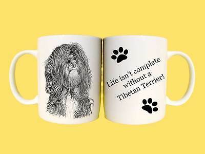 Tibetan Terrier Dogs Ceramic Mug Gift with Choice of 7 captions