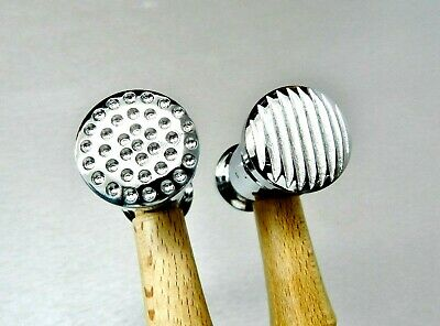 Texturing Hammer Dimples & Narrow Stripe Design Jewelery Metal Texture Finish