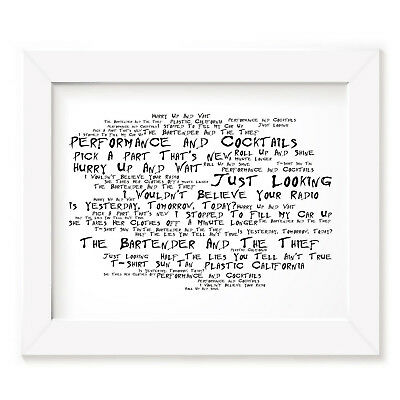 Stereophonics Poster Print - Performance and Cocktails - Lyrics Gift Signed Art