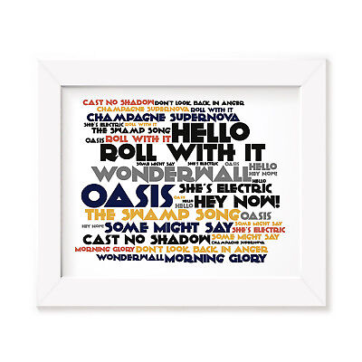 `Cadence` OASIS Art Print Typography Album Song Lyrics Signed Wall Word Poster