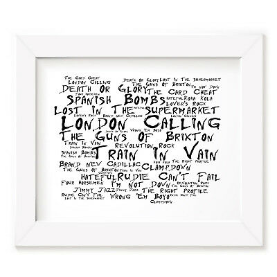 `Noir Paranoiac` THE CLASH Art Print Typography Song Lyrics Signed Wall Poster