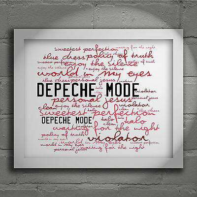 Depeche Mode Violator Signed & No. Typography Wall Art Print Song Lyrics Poster