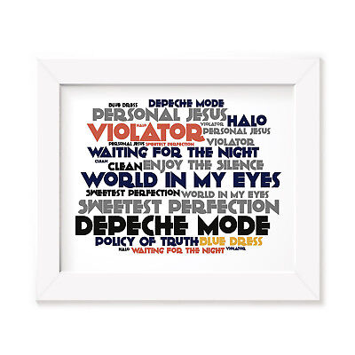 `Cadence` DEPECHE MODE Art Print Typography Album Song Lyrics Signed Wall Poster