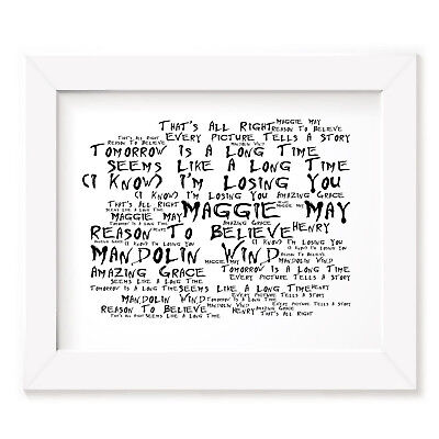 Rod Stewart Poster Print - Every Picture Tells a Story - Lyrics Gift Signed Art