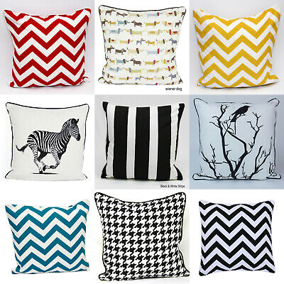 "Stylish Cushion Cover 100% Cotton Decorative PillowCase 18""x18""(45 x 45cm)"