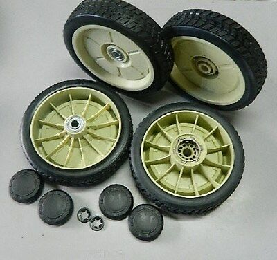 "200mm SET of FRONT & REAR DRIVE WHEELS for HONDA 21"" lawn mowers"