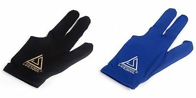 CUESOUL Pool Cue Gloves 10 PCS Black and Blue For Pool Cue,Billiard Gloves 5+5
