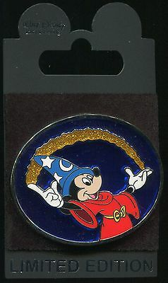 WDI Sorcerer Mickey with Shooting Stars - LE 250 Stained Glass Disney Pin 100717