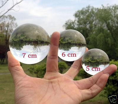 50 /60 /70mm Clear Crystal Ball / Contact Juggling w/Stand Collectin Feng Shui