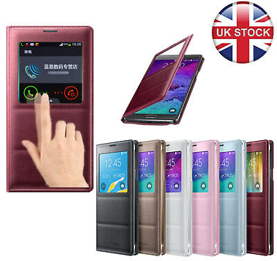 S-VIEW Leather Flip Case Battery Cover For Samsung GALAXY Note4/Note5/S6+Screen