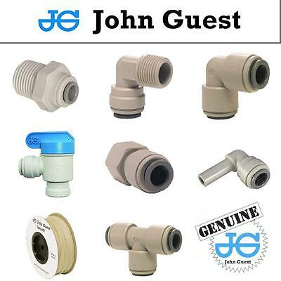 "1/4"" John Guest Push Fit Pipe Fittings for American Fridge RO Unit NPTF Thread"