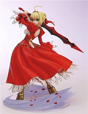 1X Fate Extra Red Saber EXTRA 1/7 Scale PVC Anime Figure NO Box