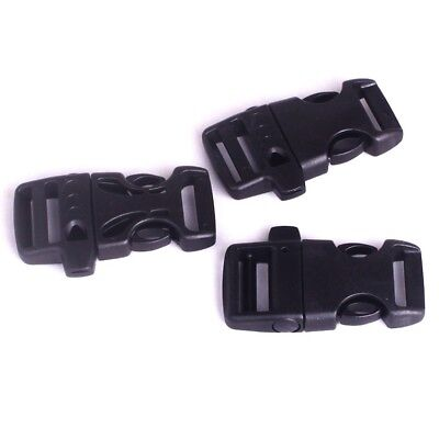 550 Paracord Whistle Buckles For Paracord Bracelet Black Buckle Survival Army