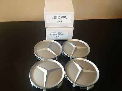 4 Pc Set Mercedes Wheel Center Hubcaps Painted Style 70Mm Aprox 300- 400 Series