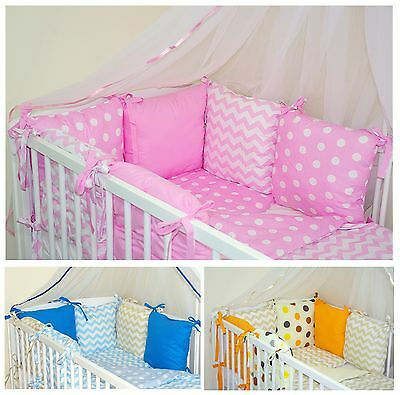 New 8 Pcs Baby Bedding Set - Pillow Bumper + Covers ( 54 Colours ) !!!