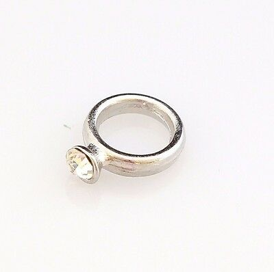 Cute Floating Charm for Floating Locket Silver Wedding Engagement Crystal Ring